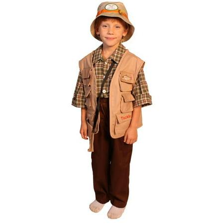 Dress Up America  Boy's 5-piece Fisherman Costume (Fish Man Costume)
