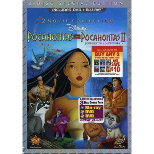 Pocahontas / Pocahontas II: Journey To A New World: Special Edition (2-Disc DVD + Blu-ray) (Widescreen)