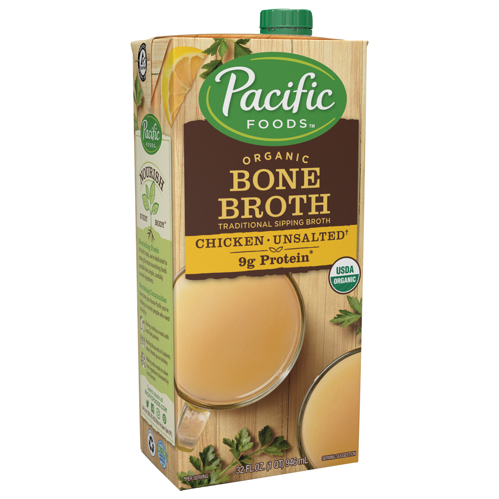 Pacific Foods Organic Chicken Bone Broth, 32-Ounces