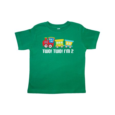 2nd Birthday Two Train Outfit Toddler T Shirt