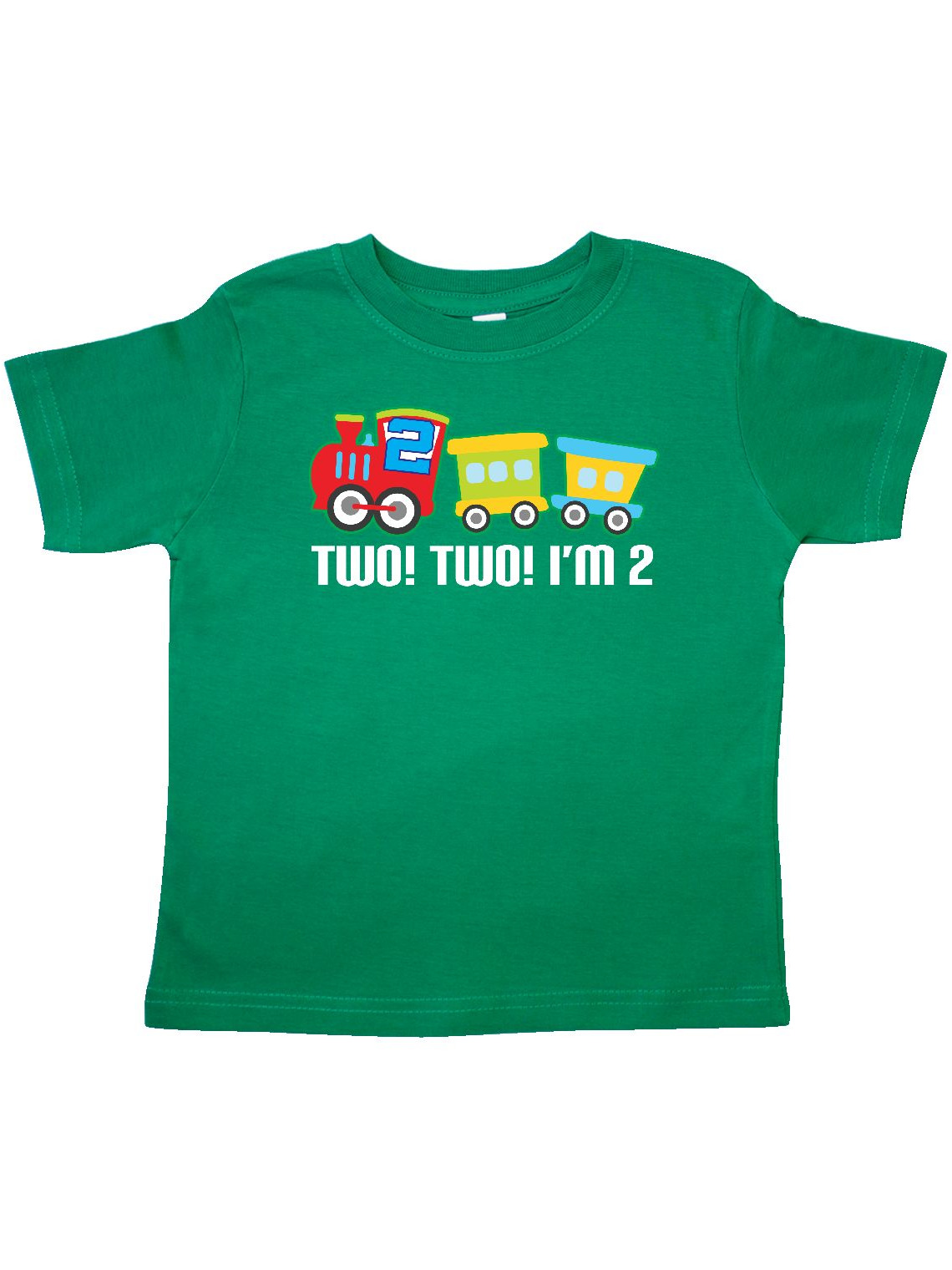 2nd Birthday Two Two Train Outfit Toddler T-Shirt