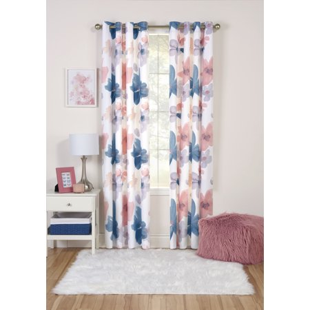 Your Zone Watercolor Room Darkening Window Curtain Panel with (32 Zone Control Panel)