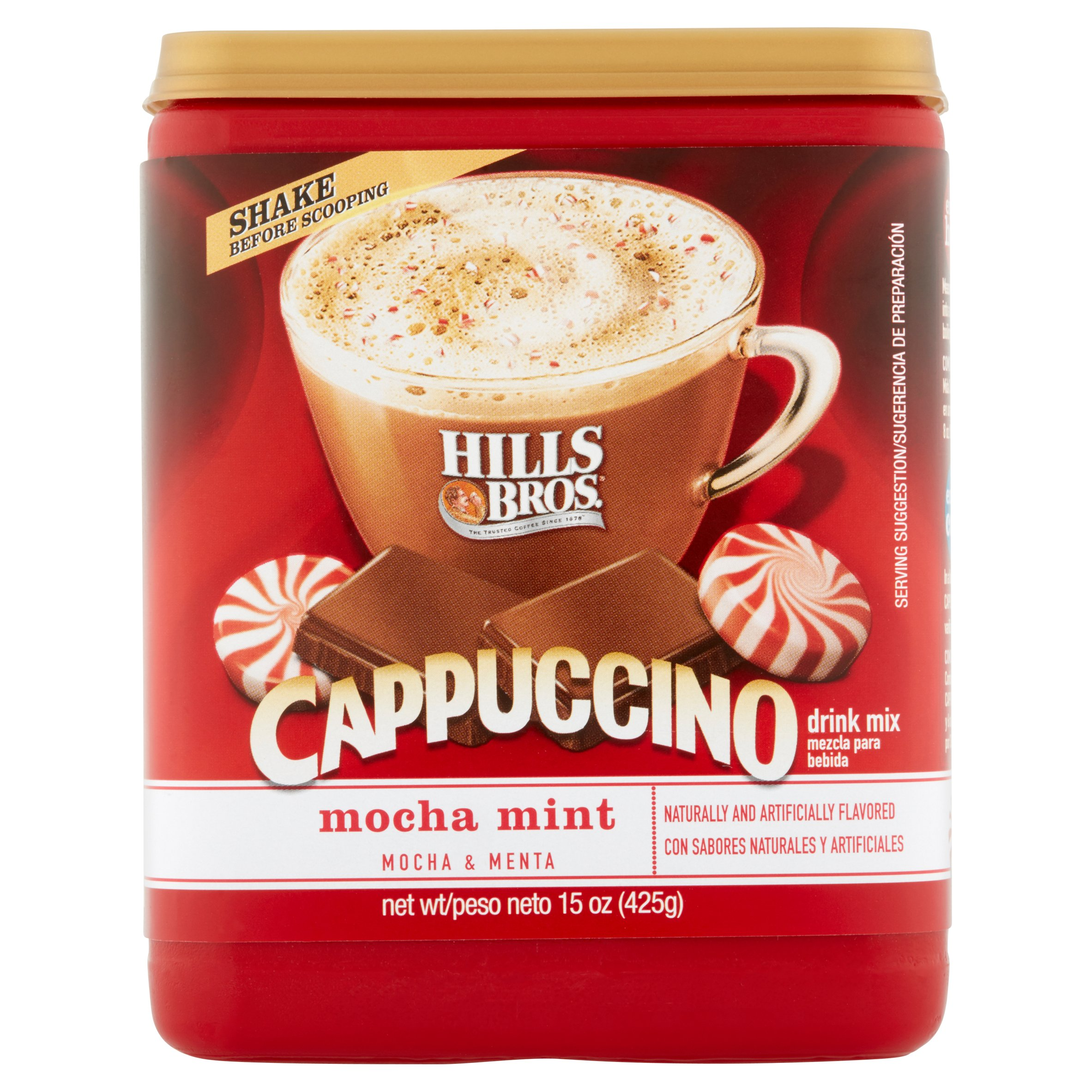 Hills Bros Drink Mix, Cappucino Mocha Mint, 16 Oz, 1 Count