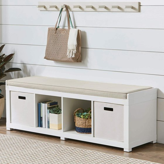 Better Homes And Gardens 4 Cube Organizer Bench White