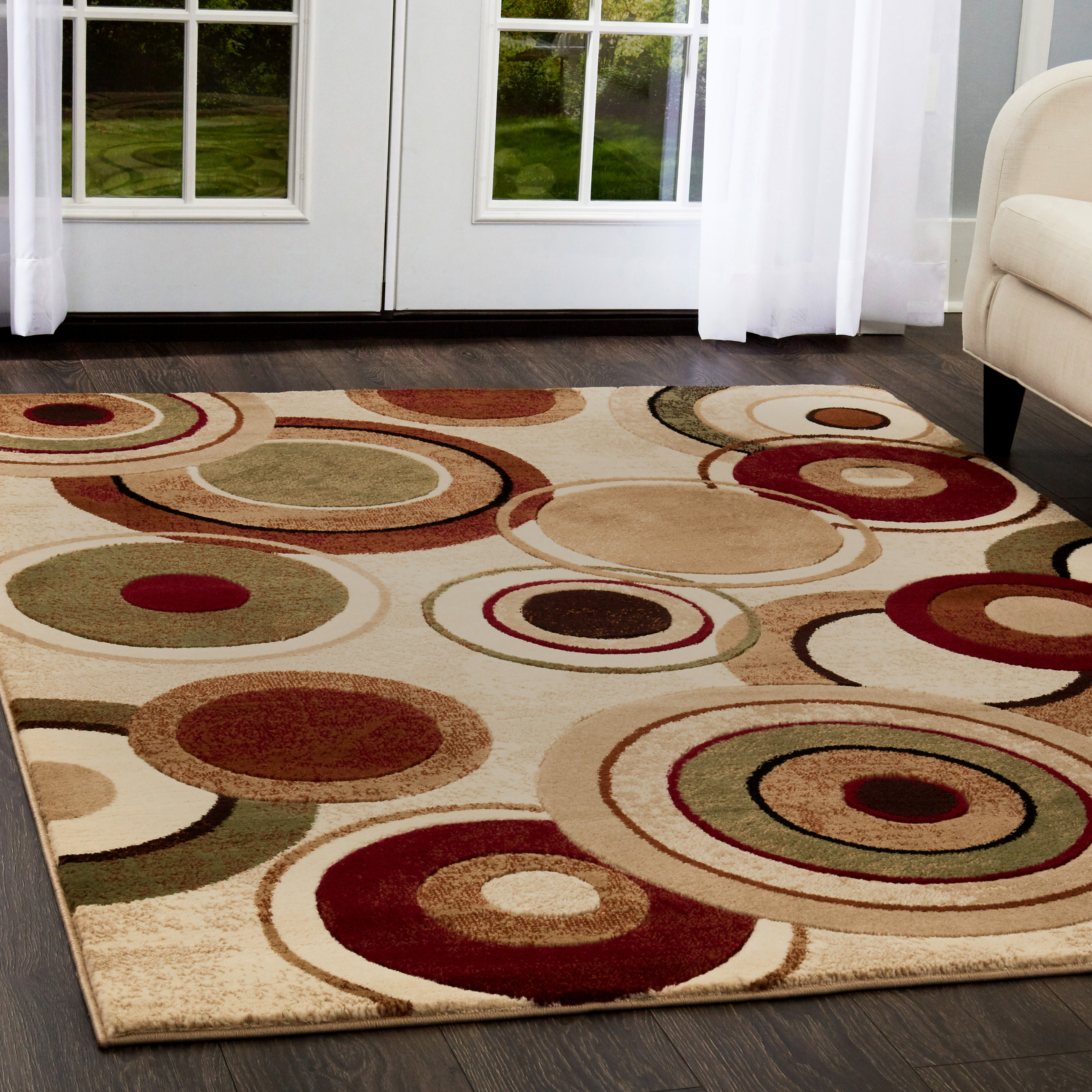 Home Dynamix Tribeca Collection Contemporary Circles Area Rug