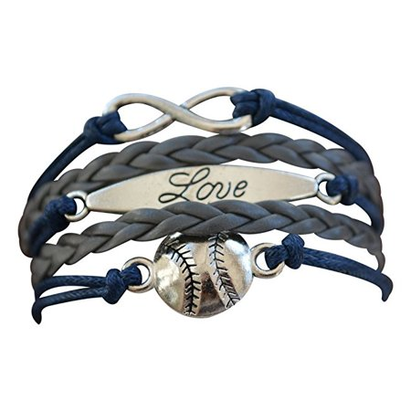 Baseball Bracelet or Softball Bracelet - Baseball Jewelry For Girls- Perfect Baseball Gift (Mlb Baseball Bracelet)