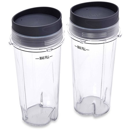 Ninja Cups (Ninja 16 oz Single Serve Cups with Lids for Ninja BL660,)