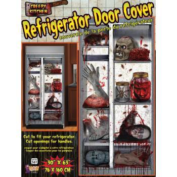 REFRIGERATOR DOOR COVER 12 PACK - Food Body Parts Halloween