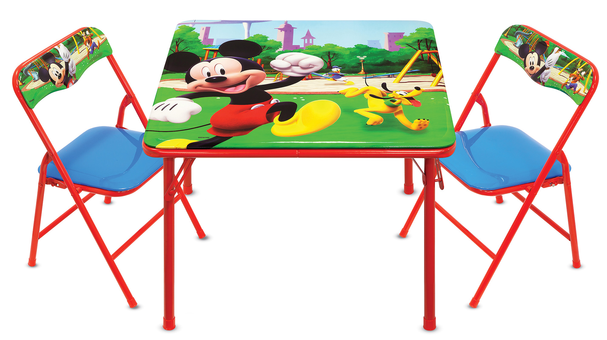 Disney Mickey Mouse Erasable Activity Table and Chairs Playset