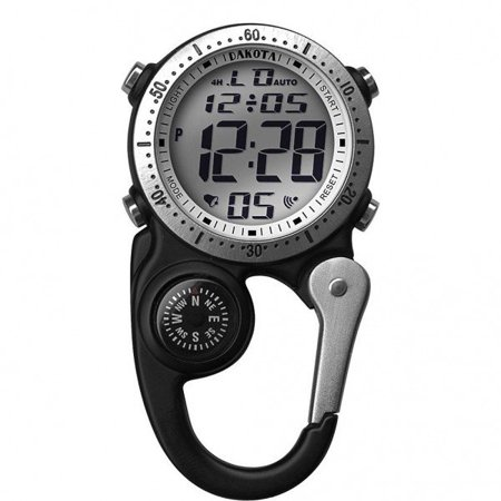 Alarm Watch Stopwatch (Black Digital Clip Watch with Alarm and Stopwatch by)
