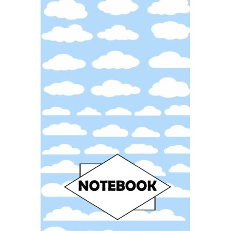 Notebook: Dot-Grid, Graph, Lined, Blank Paper: Cloud 1: Small Pocket Diary 110 Pages, 5.5 X 8.5 - Cloud Paper