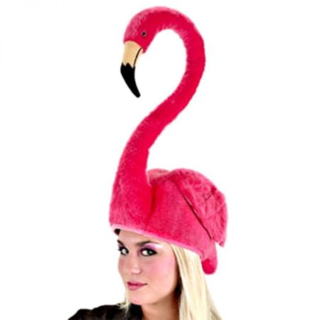 Pink Flamingo Beach Party Adult Costume Hat One Size