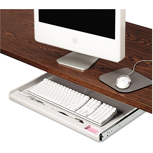 Innovera Standard Underdesk Keyboard Drawer, Light Grey