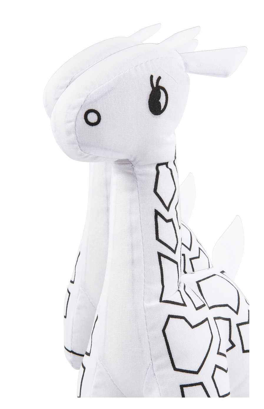 Mini White Giraffe Stuffed Animal Coloring Kit