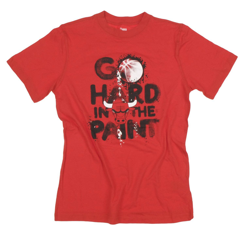 "Chicago Bulls NBA Basketball Kids / Youth Boys ""GO HARD"" T-Shirt Top Tee, Red"
