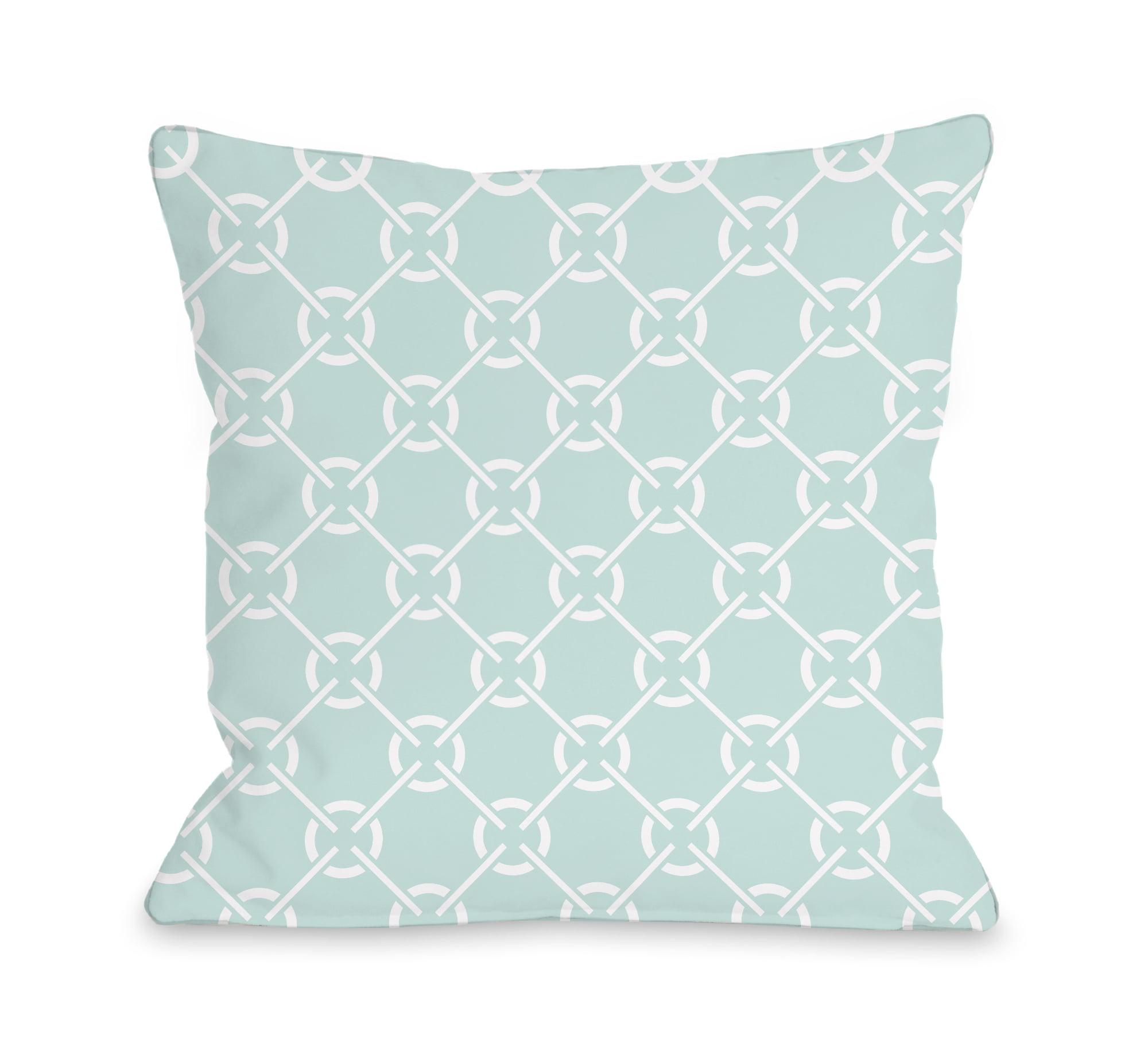 Cecile's Circles - Fair Aqua 16x16 Pillow by OBC