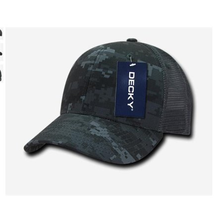 9aa4f1614 Decky 1054-NTG-CHA Cotton Curve Bill Trucker Cap, Nitroglycerin & Char