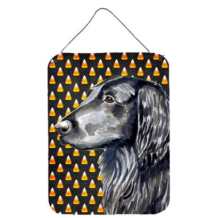 Flat Coated Retriever Candy Corn Halloween Portrait Wall or Door Hanging Prints - Jcpenney Halloween Portraits