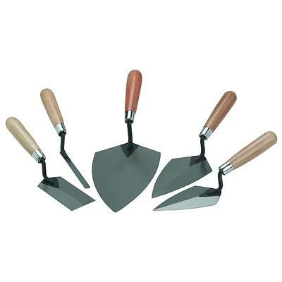 5 Piece Concrete Cement Hand Mason Masonry Margin Trowel Finishing Finish Tool Set