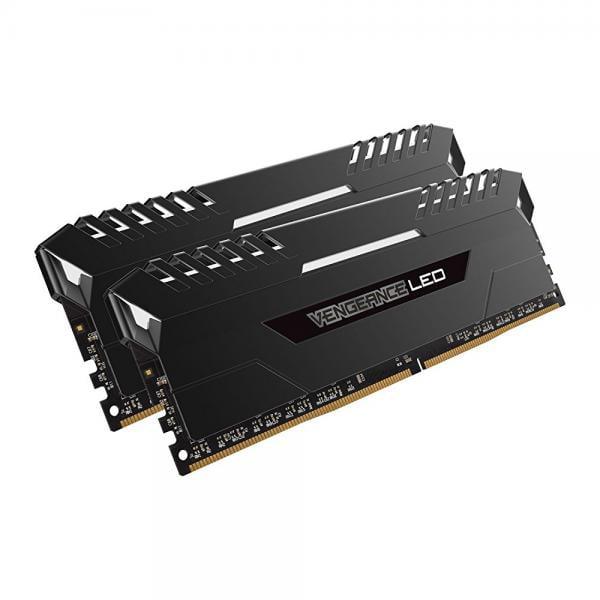 Corsair Vengeance 16GB (2x8GB) DDR4 2666 (PC4-21300) C16 for DDR4 Systems, White LED (CMU16GX4M2A2666C16)