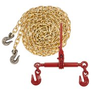 "Grade 70 3/8"" x 20' Chain - Ratchet Chain Binder - Made in USA Packa"