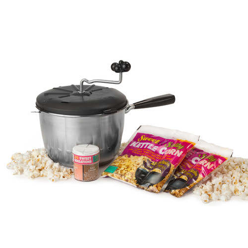 Wabash Valley Farms 192 Oz. 4 Piece Kettle Corn Snack Pack Featuring the Sweet and Easy Snack Machine Set