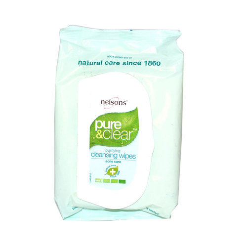 Nelsons 868620 Pure And Clear Purifying Daily Facial Wipes 32 Wipes