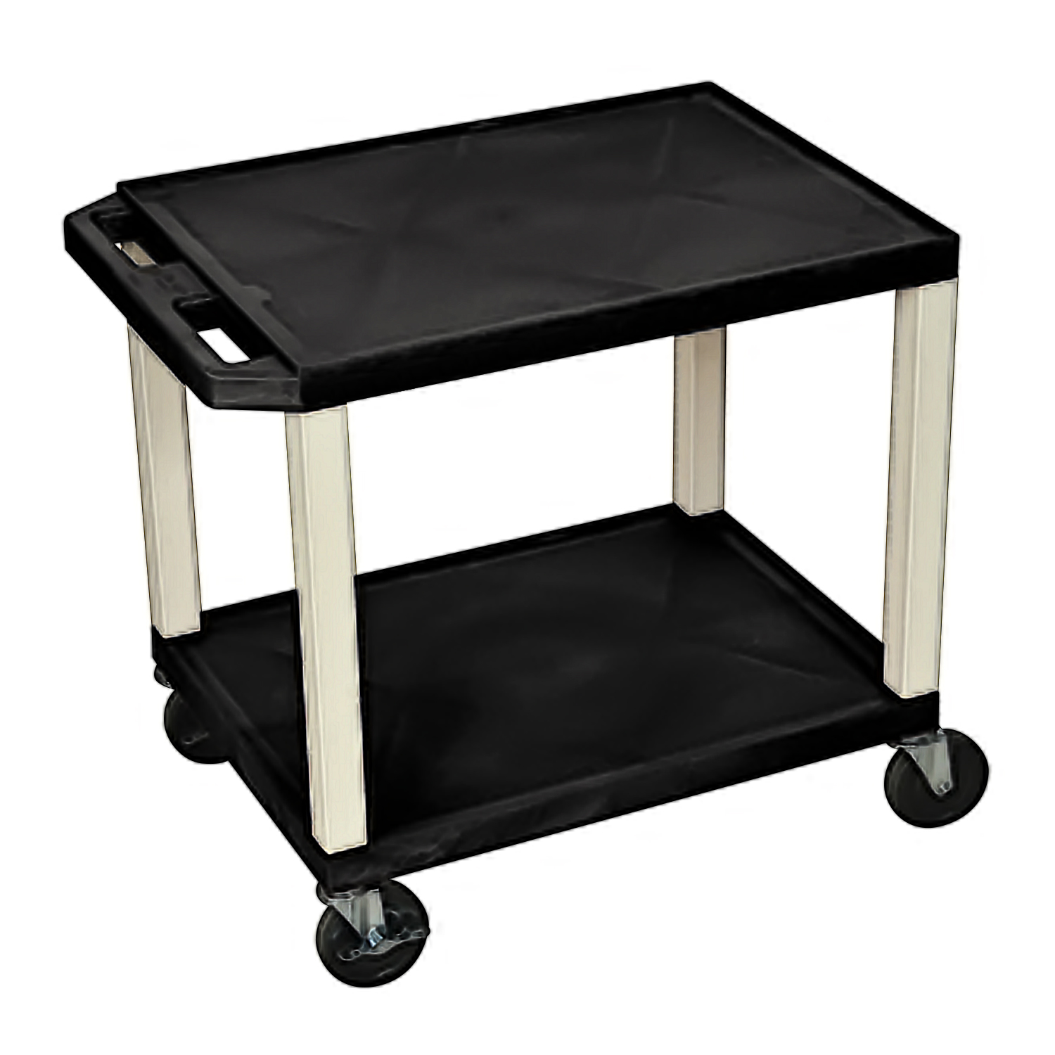 Offex OF-WT26E Tuffy Black 2 Shelf AV Cart