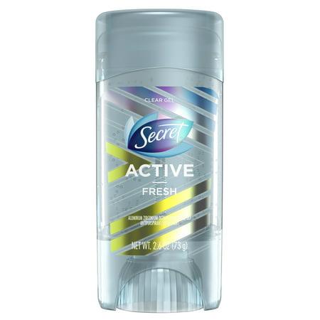 Gel Fresh Blast - Secret Active Clear Gel Antiperspirant and Deodorant Fresh Scent 2.6 Oz.