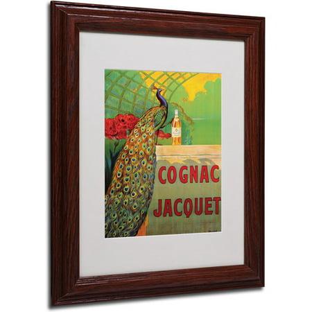 Cognac Fins - Trademark Fine Art 'Cognac Jacquet' Framed Matted Art by Camille Bouchet