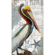 Red Horse Arts Pelican by Suzanne Nicoll Graphic Art Plaque