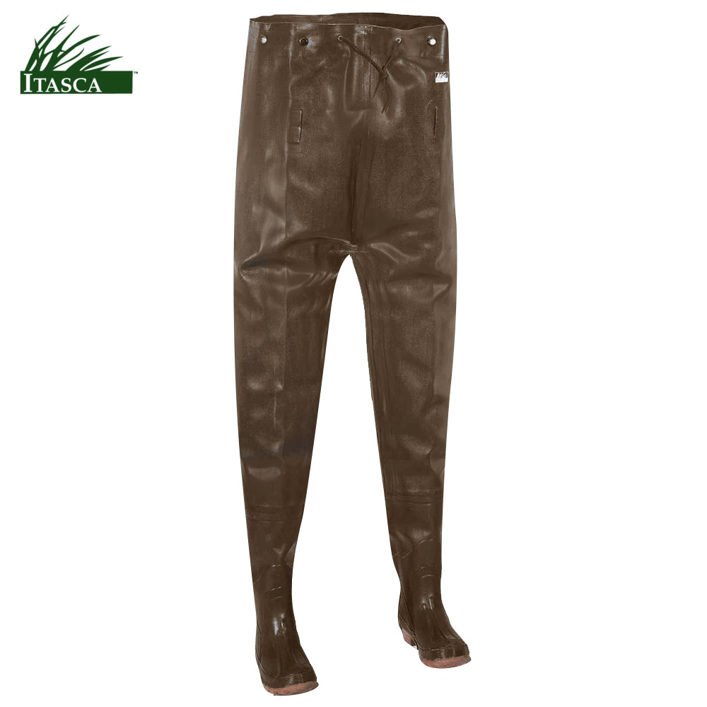 Itasca Rubber Men's Chest Waders (12)- Brown by Itasca