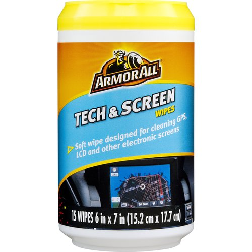 Armor All Tech and Screen Wipes, Cell Phone Cleaner, Computer Screen Cleaner, Electronics Cleaner, 17217