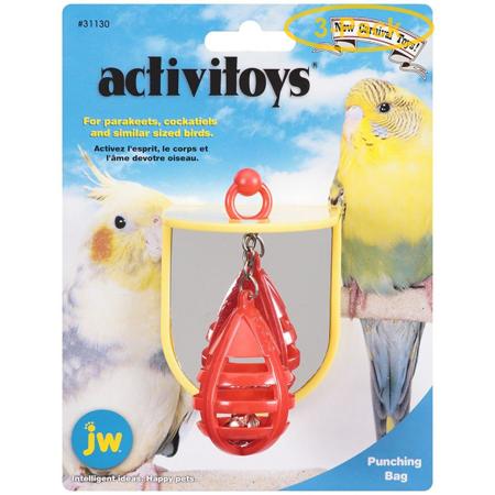 JW Insight Punching Bag Plastic Bird Toy Punching Bag Bird Toy - Pack of 3