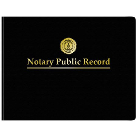 Adams Notary Public Record Journal 11 X 85 Inches 6 Entries Per Page