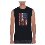 4th of July Flags American Flag Vintage Men Ultra Cotton Sleeveless T-Shirt