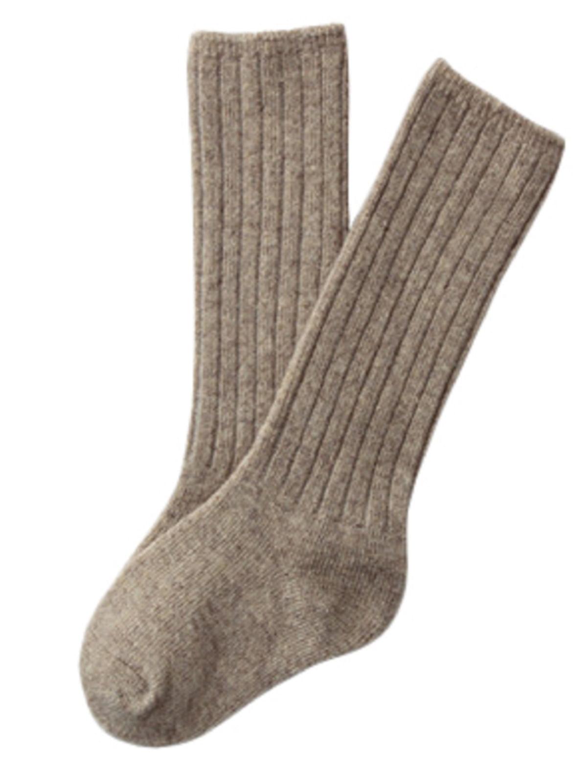 Lian LifeStyle Children 1 Pair Knee High Wool Socks Size 0-2Y  (Black)