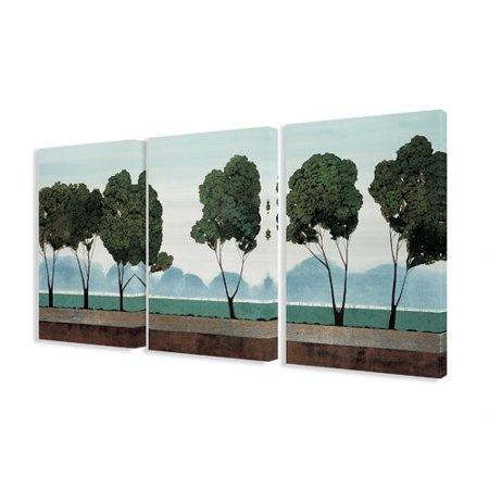 Stupell Industries Trees in a Field 3 Piece Painting Print Canvas Set