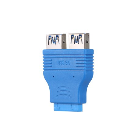Dual USB 3.0 Type-A Female to Motherboard Adapter Card 20Pin Header Connector - image 3 of 7
