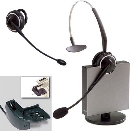 Jabra GN9125 Flex Mono Mono Wireless Headset 9125-28-15 w/ GN1000 Lifter