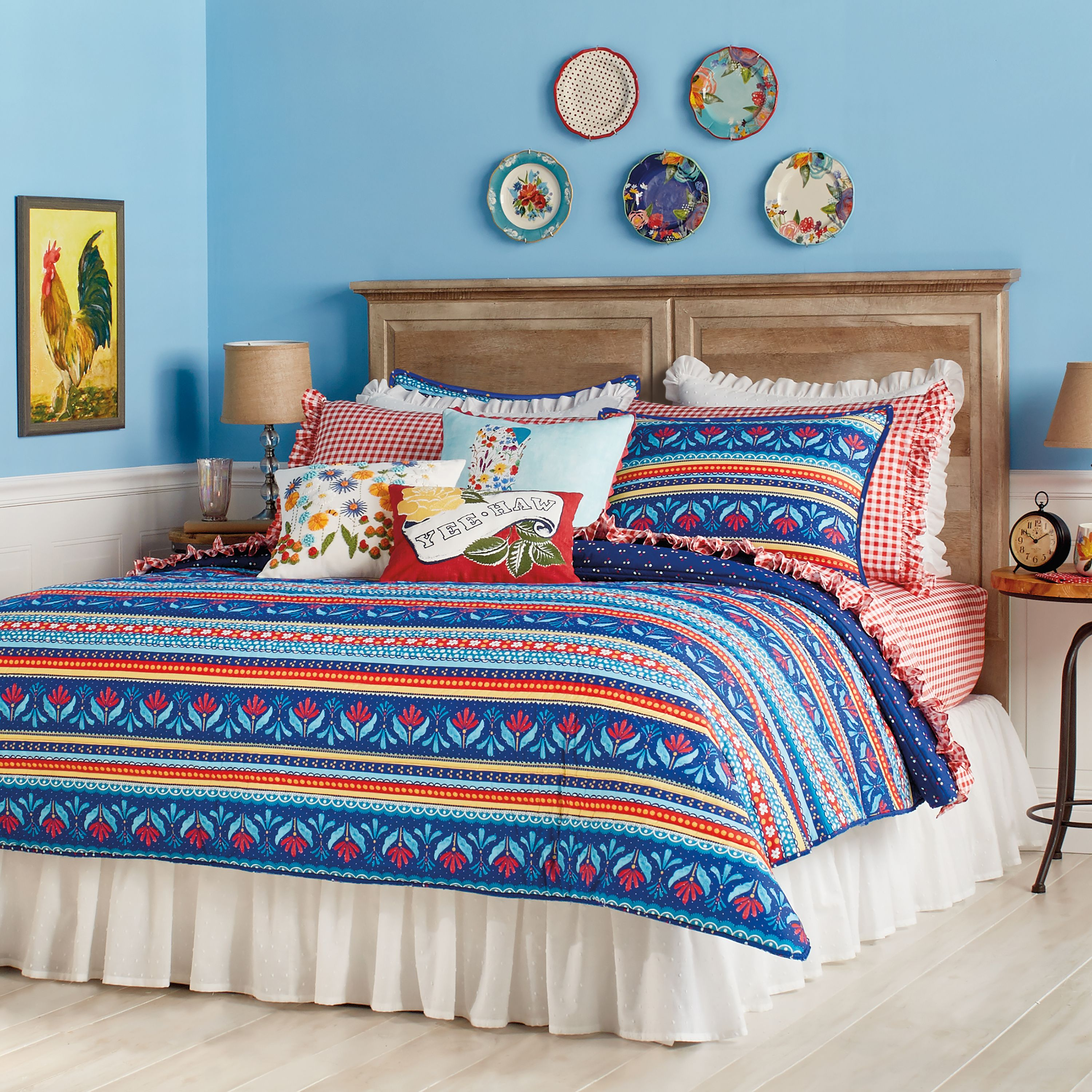 The Pioneer Woman Country Girl Stripe Quilt 3 Piece Set - Walmart.com