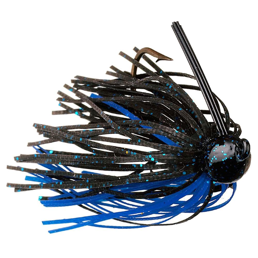 Strike King Lures Bitsy Bug Mini Jig Freshwater, 1/8 oz, Blue/Black, Package of 1