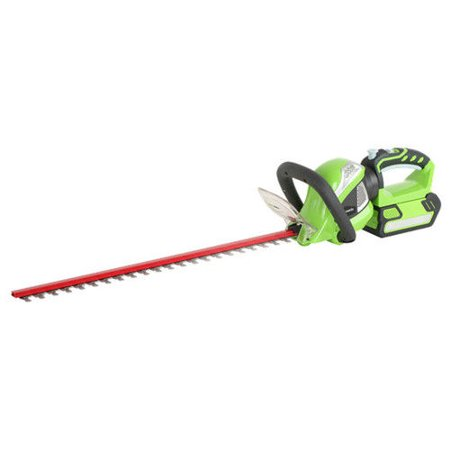 (Greenworks 22262 40V G-MAX Cordless Lithium-Ion 24 in. Rotating Hedge Trimmer)