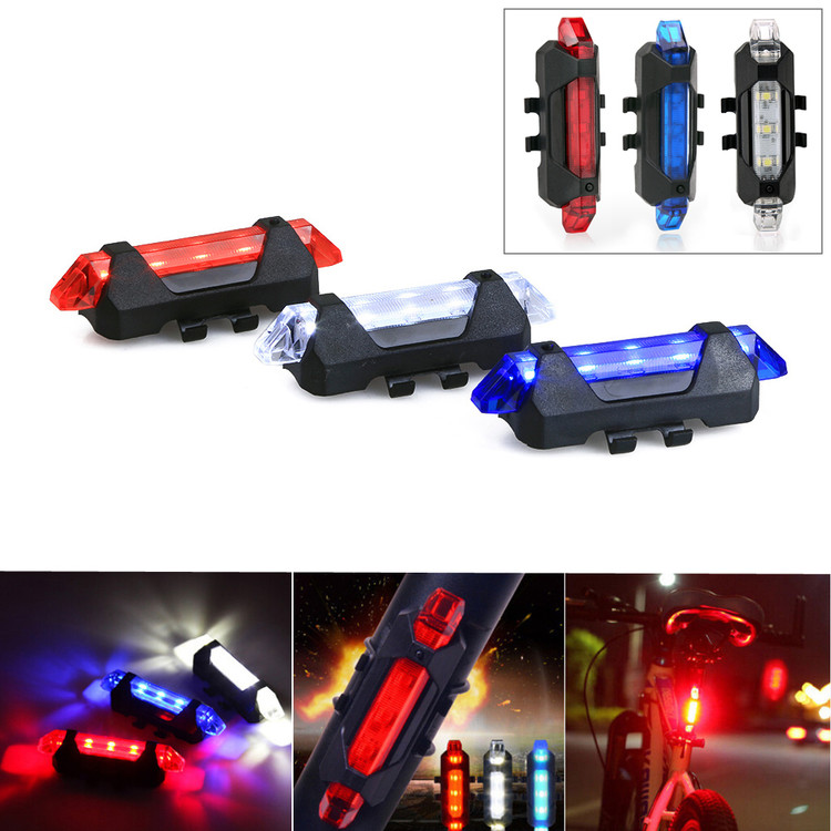Safe Healthy Riding Waterproof Bicycle Riding Light with White Blue Red