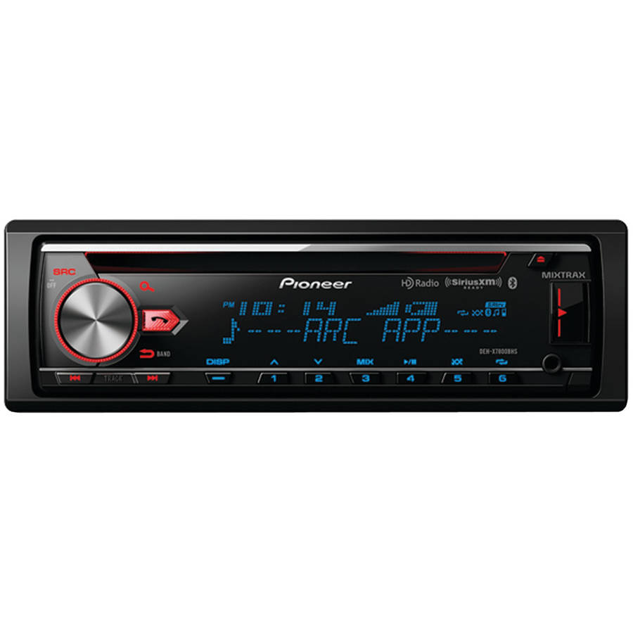 Pioneer DEH-X7800BHS Single-DIN In-Dash CD Receiver with MIXTRAX, Bluetooth, HD Radio and SiriusXM Ready by Pioneer