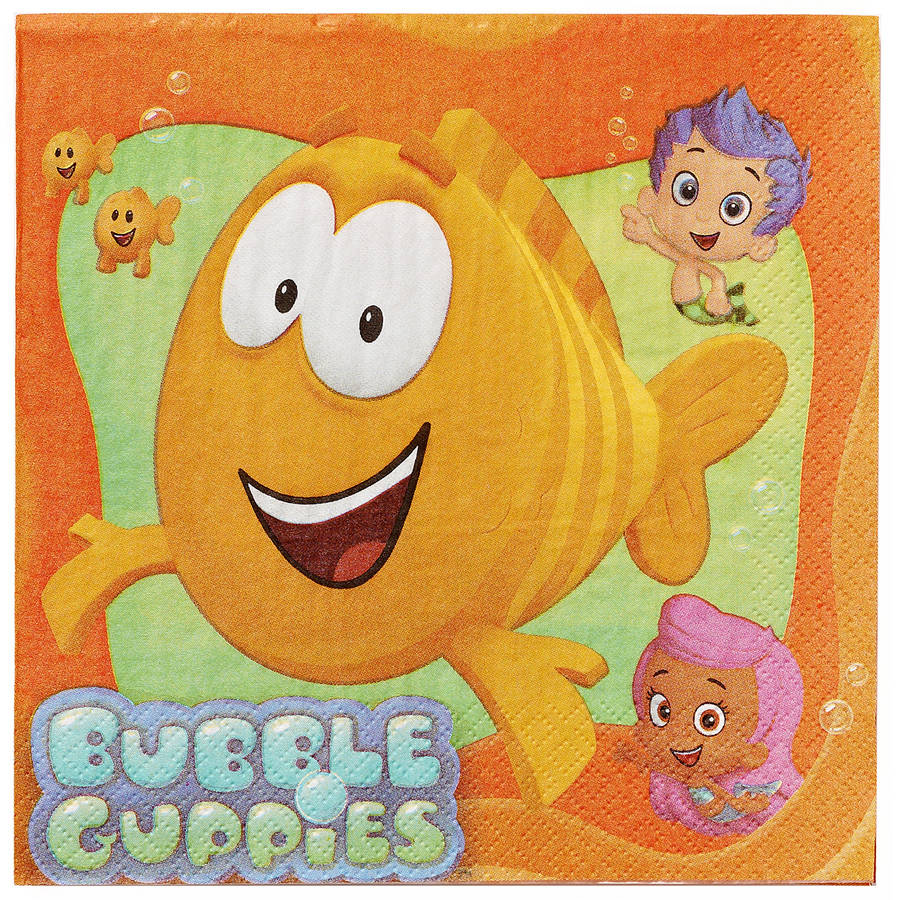 Bubble Guppies Lunch Napkins, 16 Count, Party Supplies