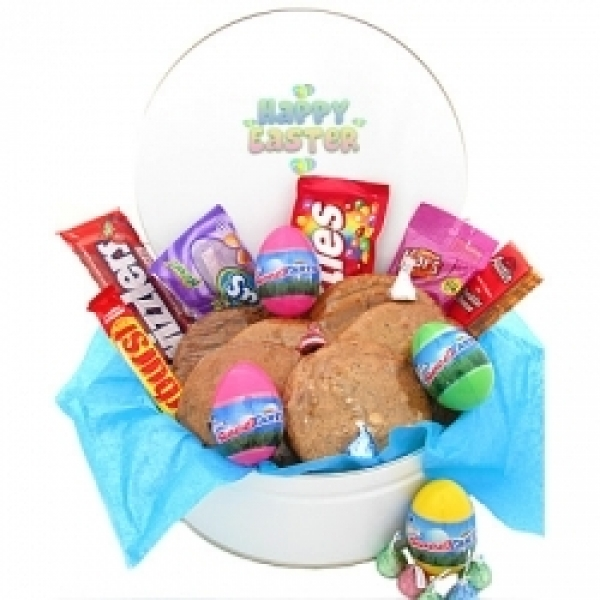 Easter Cookie Gift Tin Of Goodies 6 Gourmet Cookies by