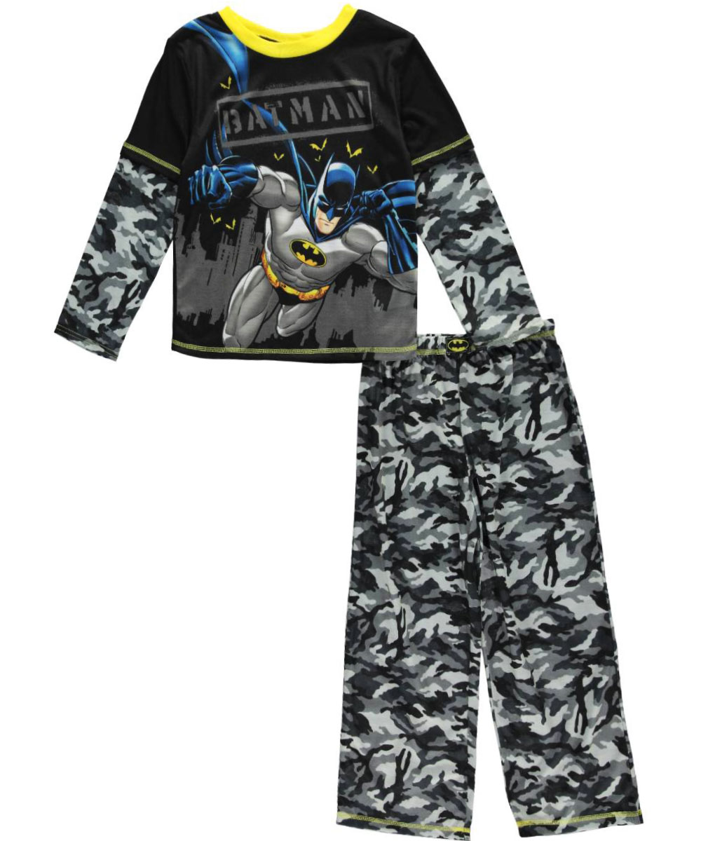 "Batman Little Boys' ""Camo Bat"" 2-Piece Pajamas (Sizes 4 7) by Batman"