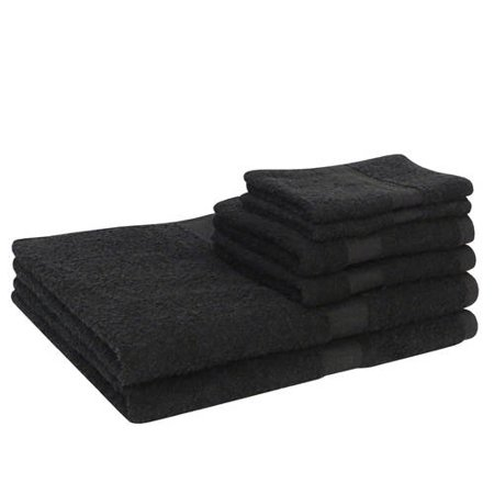Mainstays Basic Cotton Bath Towel Set - 6 Piece Set