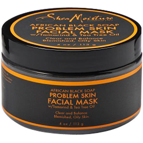SheaMoisture African Black Soap Blemish Prone Skin Facial Mask, 4 fl oz